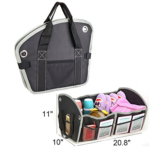 Joytutus Fits BMW Audi GMC Car Trunk Organizer Tote Cargo Storage Bag Foldable Collapsible fits Subaru Toyota Nissan Honda Accessories