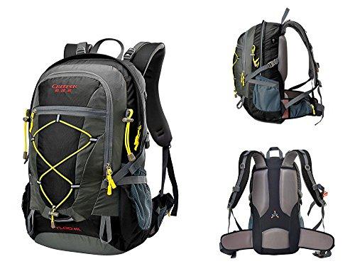 40L Verstecken Rucksäcke Bergtasche Rucksack Reise Doppel-Schulter-Fahrt Ultra-Light Computer-Rucksack Black