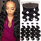 JiSheng Brazilian Body Wave 4 Bundles With Ear To Ear Lace Frontal Closure Unprocessed Virgin Human Hair Bundles With Closure Natural Color (12 14 16 18 +10) Review
