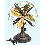 Antiques World Antique Old Pedestral Marelli Partners Electric Fan With Working Mechanism AWUSAHB 086