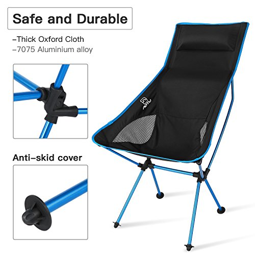 AOTU Portable Ultralight Heavy Duty Folding Chair for Outdoor Activities/Camping/Hiking