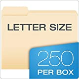 Pendaflex Essentials File Folders, Letter Size, Manila, 250 per Box (752250) tsXFql, 2Pack (1/3 Cut)