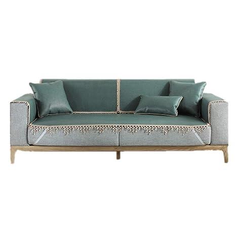 JHNEA Cubre Sofas Plazas, Verano Reversible Acolchado Sofa ...