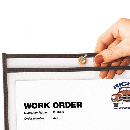 Shop Ticket Holders, Stitched, Both Sides Clear, 8 1/2 x 11, 25/BX, Model: CLI46911, Office/School Supply Store
