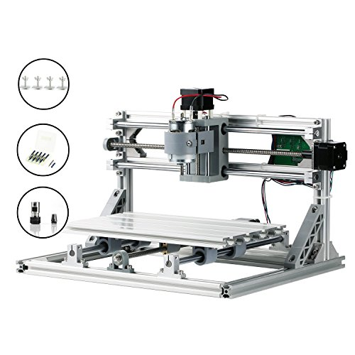 SainSmart Genmitsu CNC 3018 Router Kit GRBL Control 3 Axis Plastic Acrylic PCB PVC Wood Carving Milling Engraving Machine, XYZ Working Area 300x180x45mm