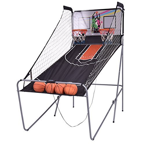 Entertaining Game Arcade Basketball Hoop Electronic Indoor 2 Hoops and 4 Balls With Ebook