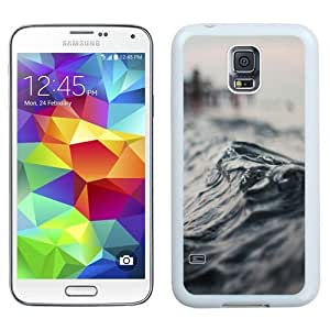 Beautiful Unique Designed Samsung Galaxy S5 I9600 G900a G900v G900p G900t G900w Phone Case With Macro Wave Seaside_White Phone Case