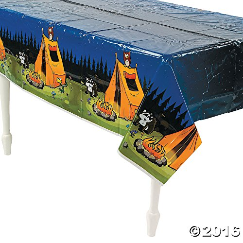 Camping Camp Adventure Plastic Tablecover