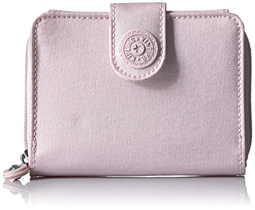 New Money Metallic Wallet Wallet, Whimsical Pink, One Size by Kipling