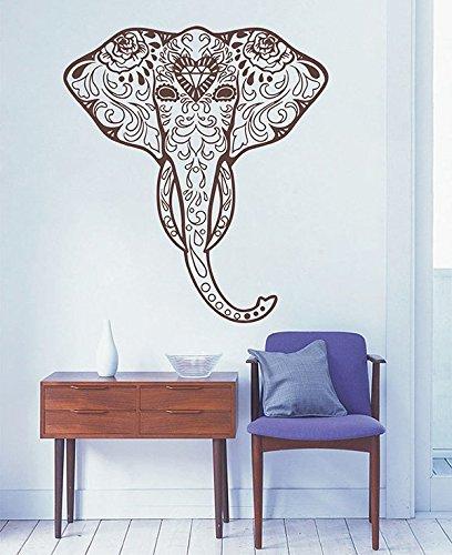 Ganesh Elephant Head - ik2887 Wall Decal Sticker Elephant Head of Ganesh Indian Ornament Living Room Bedroom