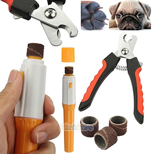 Gripsoft Deluxe Nail Trimmer (Electric Pet Dog Cat Claw Toe Nail Grooming Trimmer Tool w/ Nail Clipper Cutter)