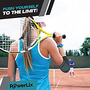 PowerLix Elbow Brace Compression Support - Elbow Sleeve For Tendonitis, Tennis Elbow Brace And Golfers Elbow Treatment, Arthritis, Workouts, Weightlifting – Reduce Elbow Pain- For Men And Women