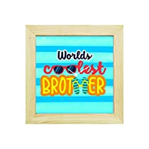 YaYa Cafe 8x8 Inches Rakhi Gifts for Brother Desk Clock Wor