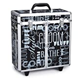 Top Performance Aluminum Grooming Tool Case with Wheels, Graffiti Black, My Pet Supplies