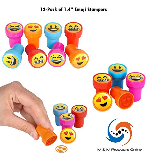 M & M Products Online. 12-Piece Set of Emoji Stampers! 4 Styles of Emoji!