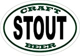 WickedGoodz Oval Vinyl Craft Brew Stout Beer Decal - Craft Brew Bumper Sticker - Perfect Dad Gift