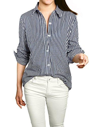 Allegra Vertical Stripes Button Sleeves