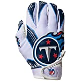 NFL Tennessee Titans Youth Receiver Gloves,White,Medium