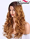 "K'ryssma Ombre Blonde Lace Front Wig 20"" Wavy Synthetic Wig with Deep Side"