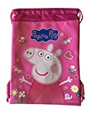 Peppa Pig Drawstrings String Backpack Sling Tote Bag (Pink)