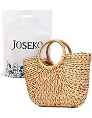 Summer Beach Bag, JOSEKO Womens Straw Handbag Summer Shoulder Bag for Beach Travel Tote Purse and Everyday Use