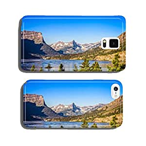 Landscape view of mountain range in Glacier NP, Montana, USA cell phone cover case iPhone5
