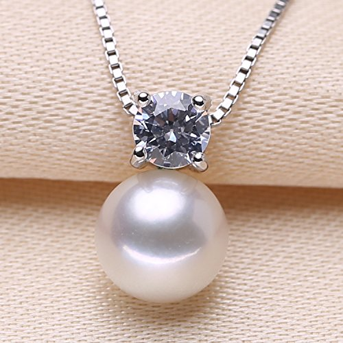 Single Pendant Mounting - My DIY only fitting 925 sterling silver natural pearl necklace pendant single zircon necklace pendant handmade jewelry mountings
