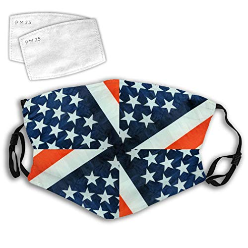 American Stars Stripes Flag Dust Ma-sk Mouth Face Fliter Washable Reusable Windproof Cover