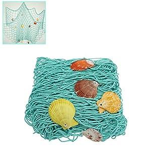 51gzS7%2BQnuL._SS300_ Nautical Fish Net Decor