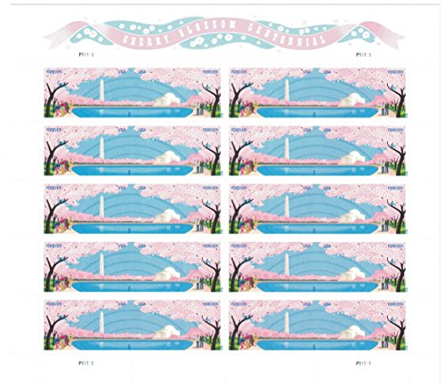 (USPS Cherry Blossoms Forever Stamps - Sheet of 20 Stamps )