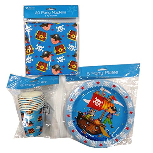 Pirate Party Complete Party Package, Invites, Loot Bags, Loot, Tableware, Banners and Much More by Home Collection
