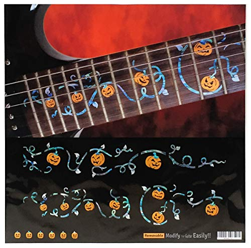 Halloween Fret Mark-Ivy Vine with Pumpkins SET Fret Markers Inlay Stickers Decals for Guitar -