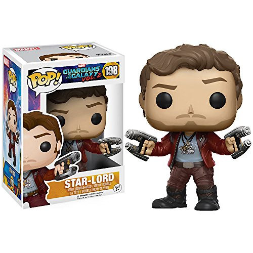 Star-Lord: Guardians of The Galaxy 2 x Funko POP! Marvel Vinyl Figure & 1 POP! Compatible PET Plastic Graphical Protector Bundle [#198 / 12784 - B]