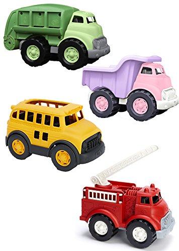 Becker's School Supplies Green Toys Vehicles Set, (Set of 4)