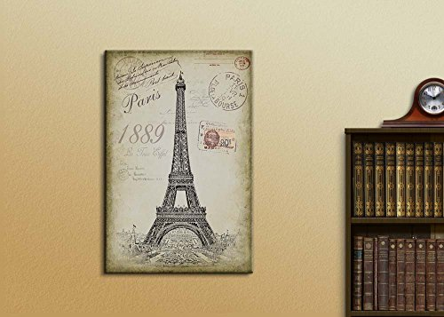 Sketching of The Eifel Tower with a Paris Themed Vintage Background