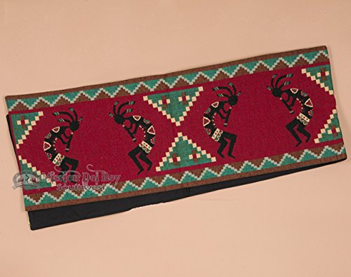Mission Del Rey Western Tapestry Table Runner 13x72 - Red Kokopelli by Mission Del Rey