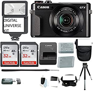 Canon PowerShot G7X Mark II Camera with 64GB + CASE + TRIPOD + CANON BATTERY AND CANON CHARGER AND MORE