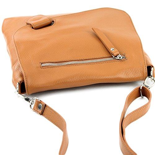 modamoda de - Made in Italy - Bolso cruzados para mujer marrón claro