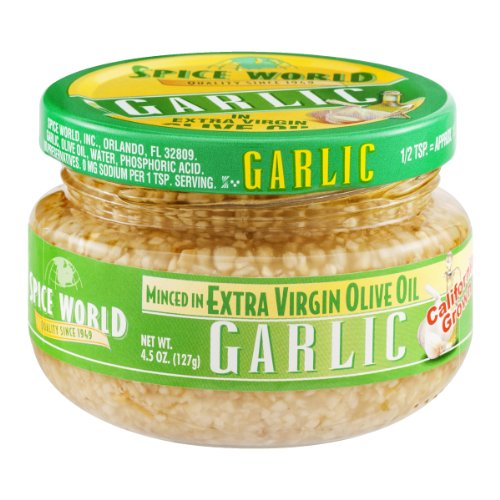 (Spice World Minced Garlic in Extra Virgin Olive Oil)