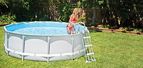 Intex deluxe pool ladder with removable steps for 36 inch and 42 inch wall height above ground for Intex swimming pools australia