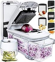 fullstar Mandoline Slicer Spiralizer Vegetable Slicer - Vegetable Chopper Onion Chopper Food Chopper Vegetable