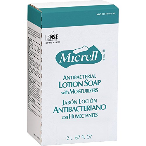 Micrell Nxt Antibacterial Lotion Soap (Micrell NXT Maximum Capacity Antibacterial Lotion Soap Refill - 67.6 fl oz (2 L) - Anti-bacterial, Antimicrobial - Amber - 1 Each)