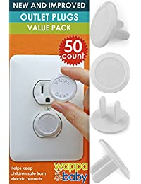 50 Count Premium Quality Childproof Outlet Covers – VALUE PACK – New & Improved Baby Safety Plug Covers – Durable & Steady – Pack Of 50 Plugs BOBEBE Online Baby Store From New York to Miami and Los Angeles