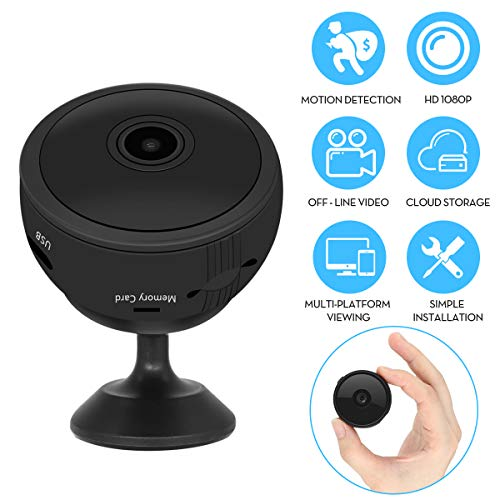[Forbid Doing Bad Things] RegeMoudal Hidden Camera Wireless Spy Camera 1080P WiFi Mini Camera with 150?Angle Night Vision Motion Detection for Indoor Home Security Monitoring Nanny Cam
