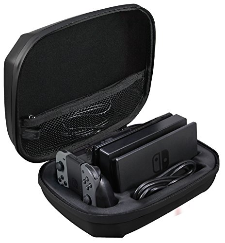 (AmazonBasics Ultimate Storage Case for Nintendo Switch - Black)