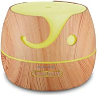 Afloia Aromatherapy Diffuser Essential Oils Humidifier 400ml Wood Grain Diffuser Oils Cool Mist Humidifier for Home