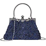 KISSCHIC Women's Vintage Beaded and Sequined Evening Bag Wedding Party Handbag Clutch Purse