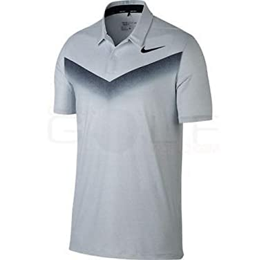 8b8e2e52 Amazon.com: Nike Men's Dri-Fit Chevron Golf Polo Grey Black AR4278 ...