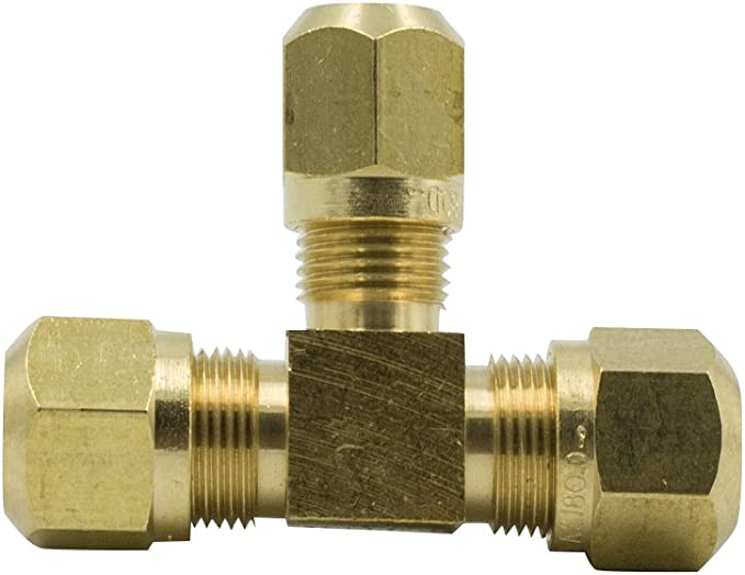 3//8 OD x 3//8 OD Brass Compression Tube Fitting 5pcs Union
