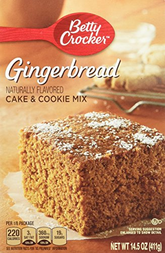 Betty Crocker, Gingerbread Cake & Cookie Mix, 14.5-Ounce Box (Pack of 4)
